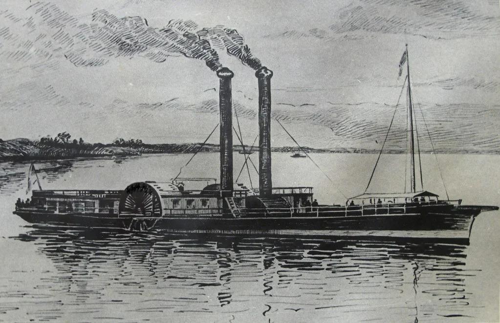, История возникновения первого парохода